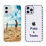 MXCUSTOM Cover Personalizzata per Apple iPhone 12/12 PRO, Custodia Personalizzate con Foto Immagine Testo Design Crea Le tue [Paraurti Morbido Trasparente+Piastra Posteriore Rigida] (CHT-CR-P1)