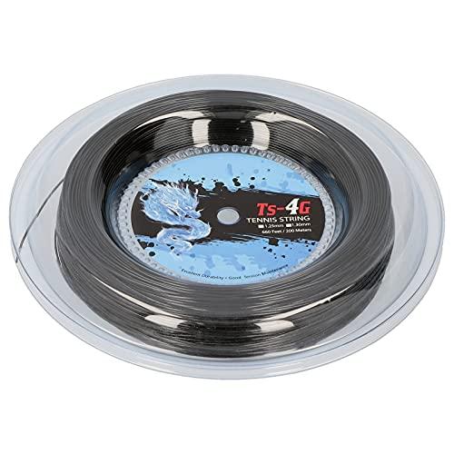 Demeras Root Rope Circle, Durable Poliéster Tenis Raquial Line Redondo Anti-Strike Dos tamaños de Hard Ball Line 200m para Entrenamiento de Tenis(1,25 mm)