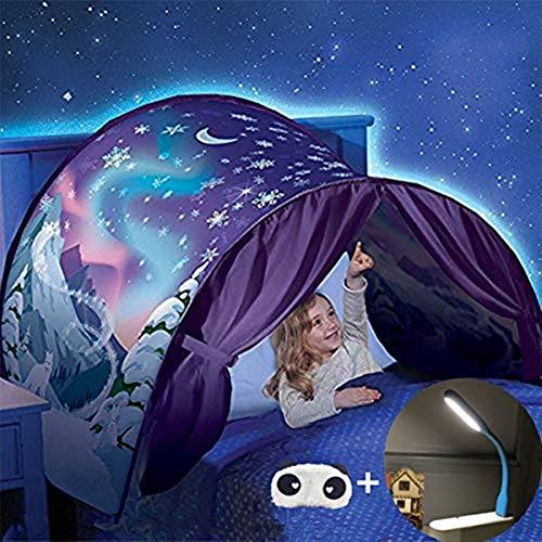 Tente de Rêve Tente de Lit Enfants Tente Playhouse de Tente Apparaitre Intérieure Enfant Jouer Tentes Cadeaux de Noël pour Enfants (Pays des Merveilles d'hiver)