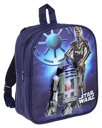 STAR WARS 3D Rucksack mit Sound Kinder Kindergarten backpack R2D2 blau
