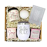 Gifts for Women - Best Relaxing Spa Gift Box Basket for Wife Girlfriend Mom Sister Daughter BFF -'Love You More' Tumbler w/Lid - Birthday Anniversary Valentines Day Bath Set Unique Present for Her