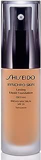 Shiseido SPF 20 Synchro Skin Lasting Liquid Foundation, Golden 2, 30ml