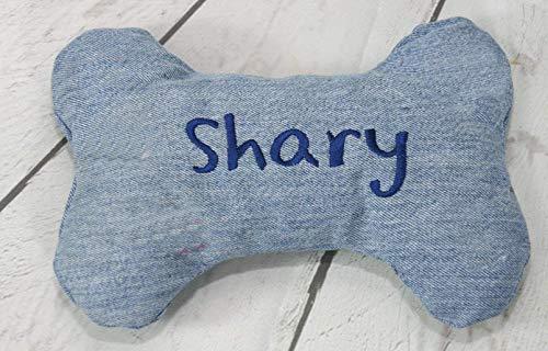 Spiel Knochen aus Stoff groß (100% Baumwolle) mit Namen personalisierbar Größe etwa 25 cm x 18 cm x 4 cm.
