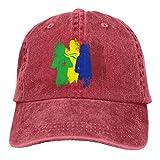 RFTGB Gorras Unisex Accesorios Sombreros Gorras de béisbol Sombreros de Vaquero Here-Comes The-Defenders Denim Baseball Cap, Unisex Vintage Dad Hat, Golf Hats, Adjustable Plain Cap