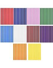 LAITER 100 stuks 7 mm smeltlijmpistool glitter lijmpistool kleurrijke hete lijm lijmsticks glitter lijmpistool voor lijmpistool voor doe-het-zelf handwerk 10 kleuren (twee mengen)