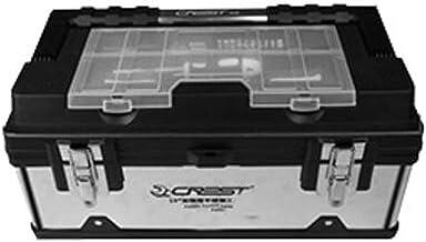 DX Adecuado para Uso doméstico Reparación Herramienta al Aire Libre Caja de Almacenamiento, PP + Acero Inoxidable multifunción 17 Pulgadas, Tamaño 40 * 221 * 18 cm (Color: 40 * 21 * 18 cm)