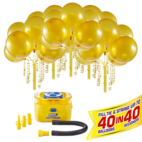 Bunch O Balloons - Party Balloons - Party Pump with 5 Balloon Stems - Gold