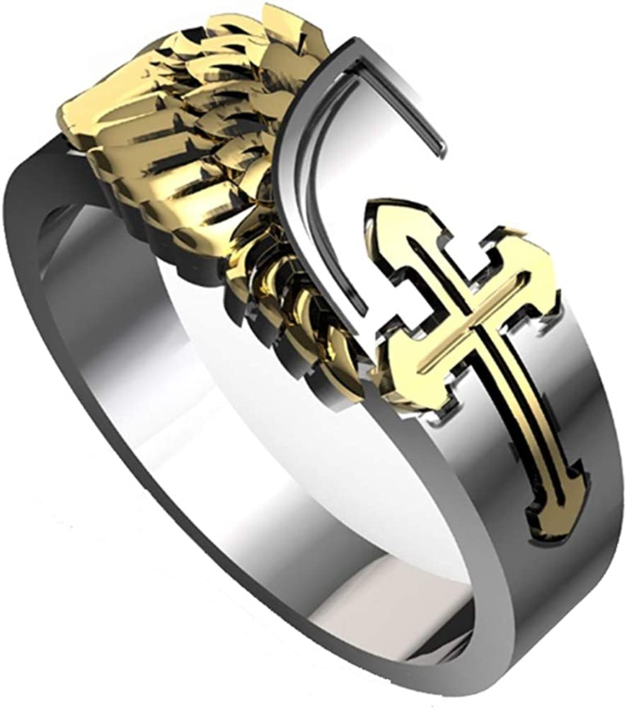 Gothic Men's Steampunk Stainless Steel Gold Two-Colored R Cheap store mail order specialty store Plated