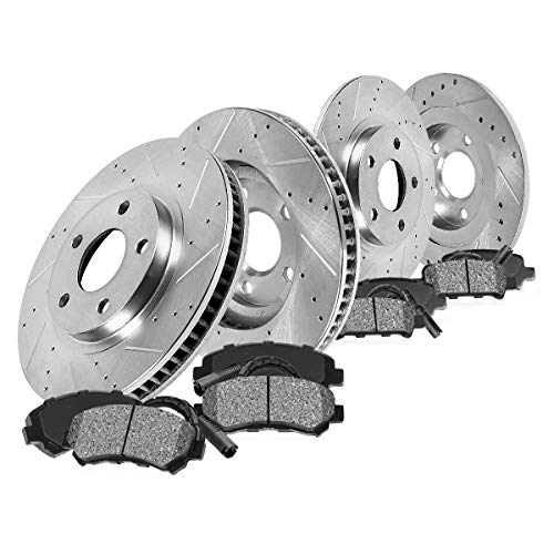 Callahan CDS02560 FRONT 281mm + REAR 267mm D/S 5 Lug [4] Rotors + Brake Pads +...