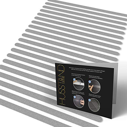 husstand Anti-Rutsch Streifen für Badewanne & Dusche - 100% Transparent & Selbstklebend - Antirutsch Sticker Badewanne - Antirutschmatten Dusche - Anti Rutsch Dusche - Duschmatten Dusche rutschfest