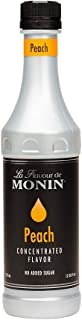 Monin Peach Flavor Concentrate 375ml Bottle