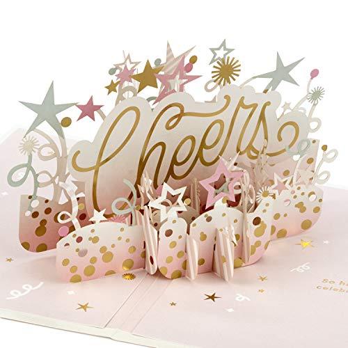 Hallmark Signature Paper Wonder Pop Up Geburtstagskarte oder Glückwunschkarte für Frauen (Cheers) (1299RZW1078)