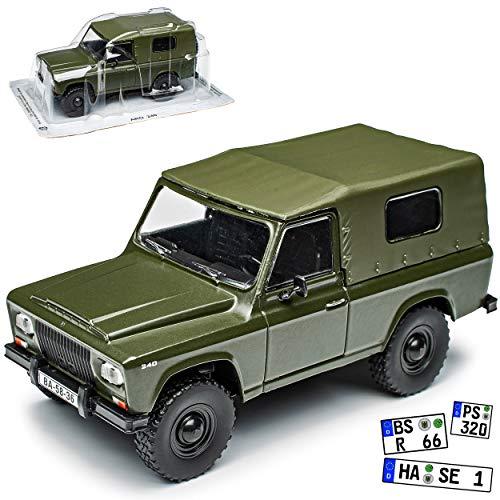 Ist Models ARO 240 Grün 1/43 Modellcarsonline Modell Auto mit individiuellem Wunschkennzeichen