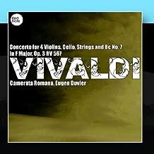 Vivaldi: Concerto for 4 Violins, Cello, Strings and Bc No. 7 in F Major, Op. 3 RV 567