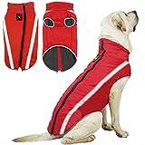 ZRSA Dog Vest Cappotto Compagnia Gilet di Cotone Inverno Freddo Giacca Cappotto Gilet Cucciolo Cappotto Morbido Morbido Vestiti Grande Abbigliamento Invernale Riflettente per Animali Domestici Caldi