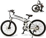 Bicicletas Eléctricas, 28' Electric Trekking/Bicicleta de Ruta for los Adultos, 21 Engranajes Velocidad Bicicleta eléctrica con 10.4Ah / 48V extraíble de Iones de Litio, suspensión Delantera, Frenos