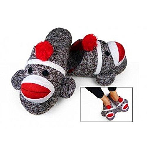 Sock Monkey Slippers Slip-On Small