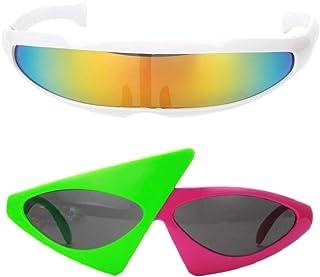 38942823b8 B Baosity 2X Gafas de Sol Fiesta Accesorios Fotografía Futurista Estrecha  Hecho