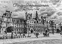 Paris-Impressionen in Schwarz-Weiss (Tischkalender 2022 DIN A5 quer): Ansichten von Paris in Schwarz-Weiss-Fotografien (Monatskalender, 14 Seiten )