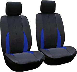 Car Front Seat Covers - Automotive Interior Accessories Protectors - Universal Design With Airbag Compatible - For Dogs, P...
