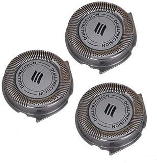 Set of 3 New HQ8 SH50/52 Replacement Electric Shaving Head Razor Blades for Philips Norelco PT720 PT724 PT730 AT810 AT830 HQ6090 7800XL HQ8160 8890XL HQ9160 Aquatec, 3000, 5000, Dual Precision Razors