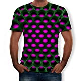 Unisex Tops 3D Printed T-Shirts Pattern Printed Short Sleeve Casual Comfort Blouse (6XL, Purple -5)
