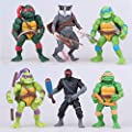 Ninja Turtles 6 PCS Set TMNT Action Figures - Ninja Turtles Toy Set Teenage Mutant Ninja Turtles Action Figures Mutant Teenage Set Leonardo, Raphael, Michelangelo, Donatello
