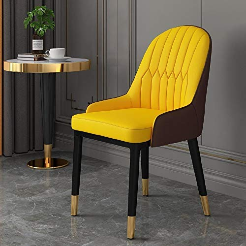TITO Silla de comedor respaldo Silla Lazy Computer Silla portátil italiana Red Mesa de comedor y silla simple hogar individual pequeño apartamento moderno (M)