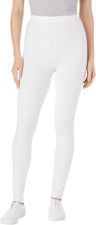 Woman Within Women's Plus Size Tall Stretch Cotton Legging