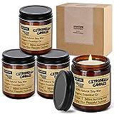 KWANITHINK candela citronella, barattolo di citronella candela 4X8,5oz, candele alla citronella...
