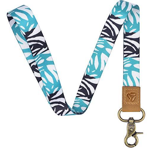 Lanyard Keychain Card Key Holder: Long Neck Strap Key Chains for Car Keys Wallet and ID Badge Holder, Cute Badge Lanyards for Women Girls Kids Men (Green Tree)