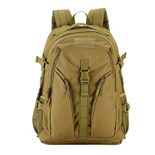 IPOTCH Large Capacity Adjustable Shoulder Backpack Camping/Travel/Hiking Bag - Brown