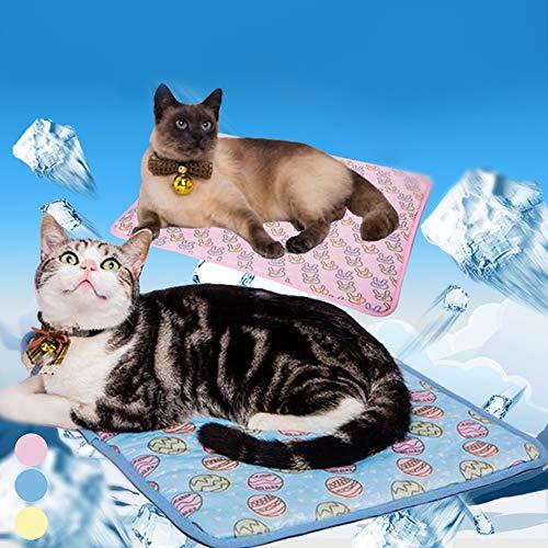 Luzoeo Alfombrilla Refrigerante para Mascota Gato y Perro Manta Refrescante para Verano Impermeable Antideslizante Interiores y Viajes
