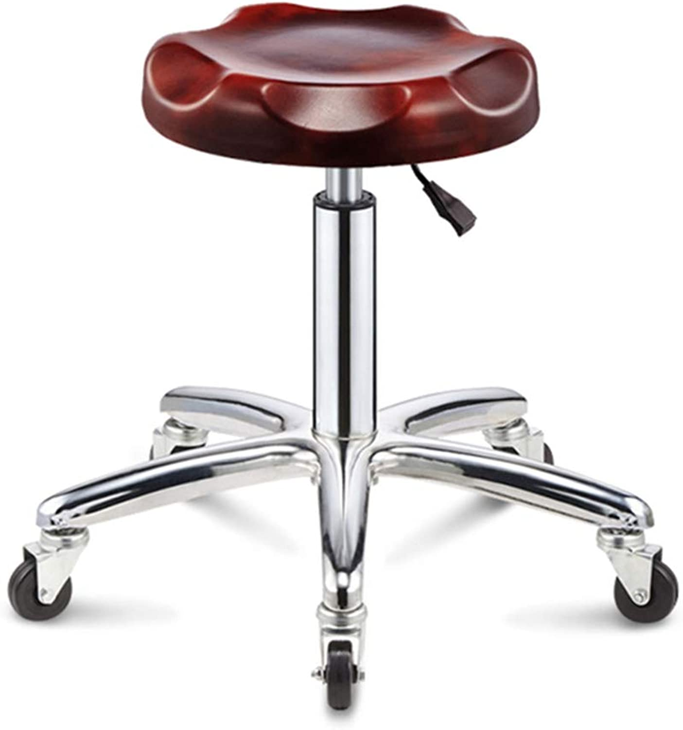 Home Office Chair - Wheel 360° redation, Stainless Steel Adjustable Height Chair-red