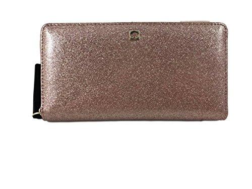 Kate Spade Mavis Street Neda Continental Zip Wallet, Sparkle Rose Gold