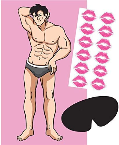 Hen Night Bachelorette Party Celebration Fun Novelty Kiss The Stud Man Funny Game product image