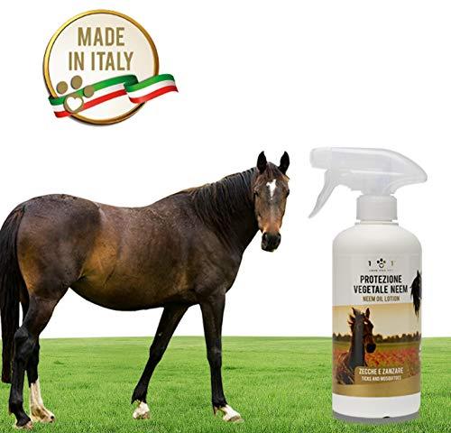 Spray Protezione Vegetale con Olio di Neem - Repellente Contro Zecche, Zanzare e Altri...