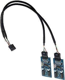 SM SunniMix PCBボード マザーボード USB 9ピンヘッダースプリッタ 1-4延長ケーブルポート マルチプライヤ