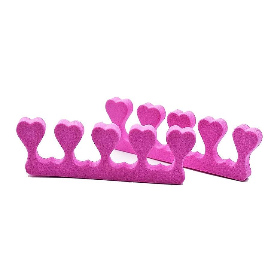 折るサポート雑多なTyou つま先セパレーター指泡セパレーターアートマニキュアツール美容サロン用2ピースピンク