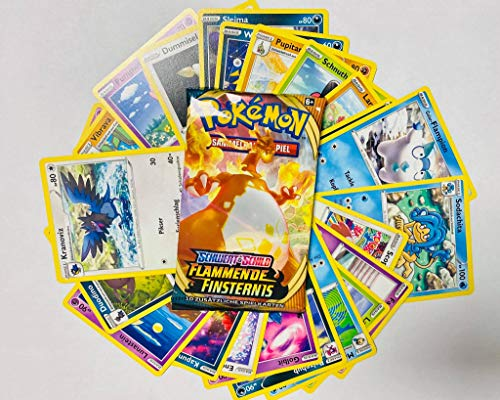 JK-Entertainment Pokemon Sparangebot - 100 deutsche gemischte Pokemon Karten + 1 Booster unserer Wahl