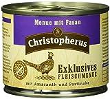 Christopherus Solos Forro para Perros, húmedo Forro, Gluten de y getreidefrei, Cabra/Patatas/Zanahoria, Exclusivo Carne Menú 6x 200g