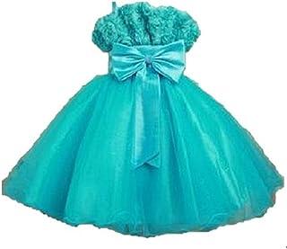 (ミィーリィ)キッズ フォーマル ドレス ワンピース 大きな リボン フラワー 飾り 七五三 発表会 卒園 入園 卒業 入学 結婚 式 用