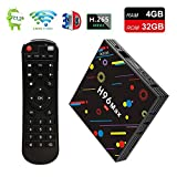 2019 TV Box, 4GB DDR4+32GB Yongf H96 Max Smart 4K TV Box Android 8.1.2 RK3328 Quad Core CPU WiFi Set Top Boxes Support 3D 4K Ultra HD TV