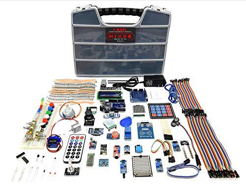 GAR Micro Starter Kit für Arduino UNO Komplettset Advanced Set 18 Sensoren WiFi Bluetooth Module ESP32 ESP8266 Wireless für Robotics STEM Projekte