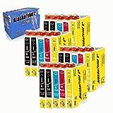 Alaska 20 Druckerpatronen Ersatz für Epson 29 29xl für Expression Home XP-342 352 345 245 442 332 235 432 445 435 335 247 455 Patronen Tintenpatronen (8 Schwarz 4 Cyan 4 Magenta 4 Yellow)