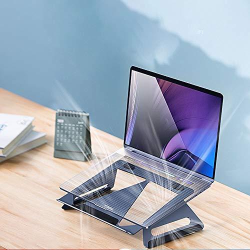 QWEA Notebook-Ständer,Laptop-Halfterung,Mehrwinkelhalterung mit Kühllöchern,verstellbare Notebook-Computerhalterung aus Aluminium,Desktop-Rack-Halterung,Heizkörper,tragbarer Regaltisch,Heben und