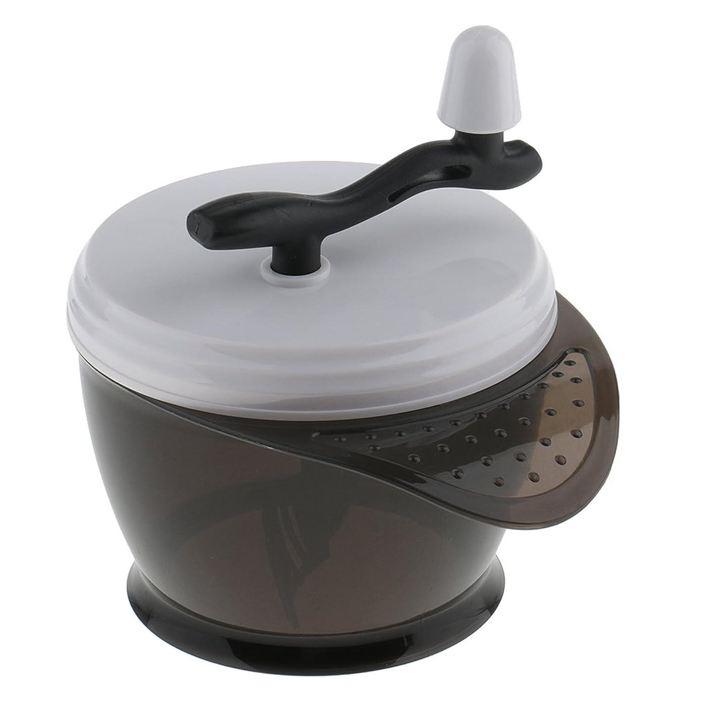 アパート一致する認めるKesoto プラスチック製 ヘア 染色 ボウル ミックス ヘアカラー用 半自動 ミキサー ボウル カバー付き 便利 耐久性