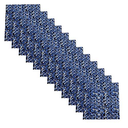 DEELIN, 12PCS Tissus Bricolage Multicolore Option Textile de Coton DIY Bricolage Habillement Couture Chiffons Imprimé Fleur Camouflage Motif 25x25cm