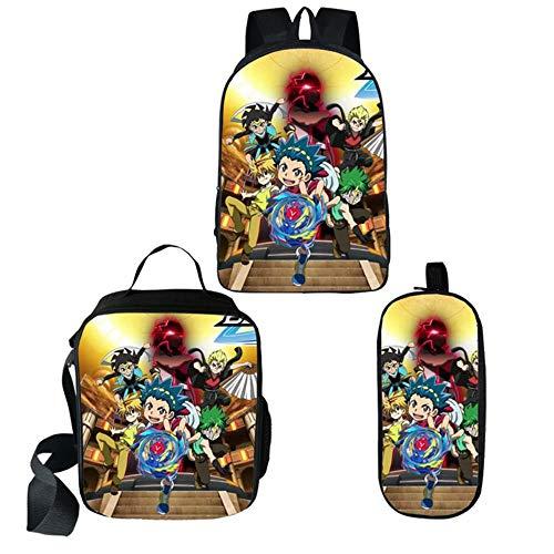XMXYLP Sac à Dos Universel étanche pour l'école de Voyage en Plein air Anime 3D étudiant éclaircissement Sac à Dos Sac à Dos Stylo Sac Sac à bandoulière Ensemble de Trois pièces, 16 Pouces Paquet 03