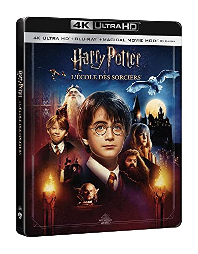 Harry Potter à l'école des sorciers [4K Ultra HD + Blu-Ray-Édition boîtier SteelBook]